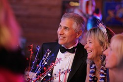 INAUGURAL BALL :  Mr. Emmer and a friend share a moment at the ball. - PHOTO BY STEVE E. MILLER