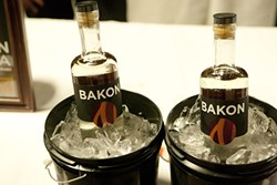 BACON FLAVORED VODKA?:  Yes, it's real, and it's made by Bakon Vodka from Seattle, Wash. - PHOTO BY STEVE E. MILLER