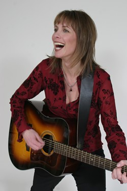 BAY AREA BUSKER :  Amy Meyers (pictured) plays a three-act show with Julie Christensen and Each Passing Day on Oct. 17 at Shepherd's Table in Grover Beach. - PHOTO COURTESY OF AMY MEYERS