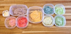 BUBBLE GUM SPECTRUM:  All the colors of the bubble gum rainbow, from cinnamon to spearmint. - PHOTO BY ERIN C. MESSER