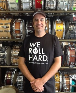 DRUM LEADER! :  Drum Circuit owner Howard Emmons is ready to play host to the 24th Annual Drum Circuit Drum Competition on April 28 in The Graduate. - PHOTO COURTESY OF JOHN MORELAND