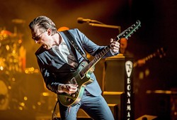 AXE SLINGER:  Joe Bonamassa pays tribute to Albert, B.B., and Freddie King on Aug. 24 at Vina Robles Amphitheatre. - PHOTO BY MARTY MOFFATT