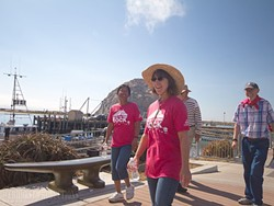 STROLLING THE EMBARCADERO:  Participants in the Food Bank's annual Hunger Walk make their way from Morro Rock to the finish line, raising money and awareness for individuals in San Luis Obispo County suffering from hunger. - PHOTO COURTESY OF TERHOST PRODUCTIONS