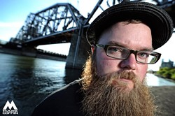 IT'S ALL ABOUT THE BEARD! :  On Jan. 17, McDougall will bring his incredible beard and incredible talent to the Frog and Peach. - PHOTO BY MARK COFFIN