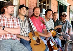 PICKIN' FOR PISMO PRESERVE:  Great bluegrass-and-beyond band Cuesta Ridge headlines an awareness and fundraising concert on May 4 at Dinosaur Caves Park for The Land Conservancy's efforts to purchase the Pismo Preserve and make it permanent public open space. - PHOTO COURTESY OF CUESTA RIDGE