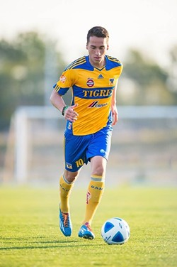 SLO'S FINEST :  Jesus Vazquez graduated from SLO High in 2013 and signed a professional soccer contract with a Mexican club—UANL Tigres—in January 2014. - PHOTO COURTESY OF ALIANZA DE FUTBOL