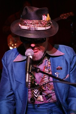 "THE GOOD DOCTOR! :  Six-time Grammy-winner Dr. John was dripping with New Orleans cool last Friday at SLO Brew, two days before he accepted the 2013 Grammy for ""Best Blues Album."" - PHOTOS BY GLEN STARKEY"