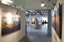 """ACCIDENTALLY PERFECT:  Erin Hanson's """"Colors of Paso"""" hangs at Studios on the Park, 1130 Pine St. in Paso Robles, through Oct. 28. A closing reception will take place Saturday, Oct. 27, from 5 to 9 p.m. Current hours are noon to 9 p.m. Fridays and Saturdays, and noon to 6 p.m. Thursdays and Sundays (closed Monday through Wednesday)."""