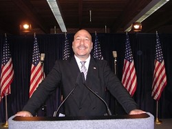MY FELLOW AMERICANS:  Joey Racano may not be president, but he is with the Green Party. - PHOTO COURTESY OF JOEY RACANO