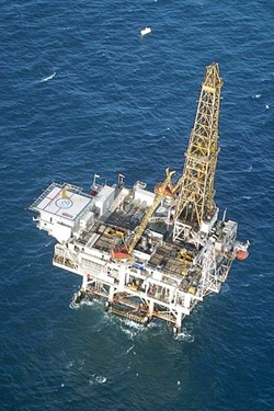 NEW LEASE ON LIFE :  A lease agreement between Plains Exploration Company and the state may be working its way around previous rejections by the Legislature and California State Lands Commission. If the agreement succeeds, slant drilling would originate from Platform Irene off the coast of Lompoc and tap into the Tranquillon Ridge Oil and Gas Range in state waters. - FILE PHOTO