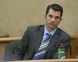 MISTRIAL! :  Eight jurors found San Luis Obispo firefighter John Ryan Mason not guilty Sept. 27, splitting with four of their peers over whether Mason started the bar fight that left Los Osos resident Jory Brigham with 17 broken bones in his face. - FILE PHOTO BY STEVE E. MILLER