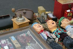 ALMOST ART :  These Three Stooges puppets are nearly art! - PHOTO BY GLEN STARKEY