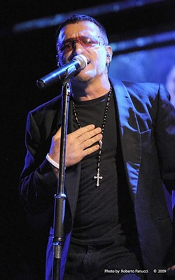 YOU LOOK SO BEAUTIFUL TONIGHT:  Only their mothers can tell them apart; pictured is Bono stand-in Pavel Sfera from Vegas U2. - PHOTO COURTESY OF VEGAS U2