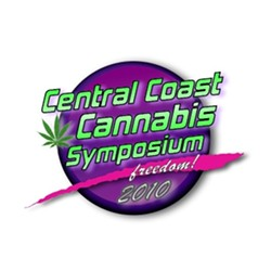 PURPOSEFUL :  Organizers of the symposium invite Central Coast residents to learn more about the medical relief cannabis provides and also why marijuana use should be decriminalized. - LOGO COURTESY OF RICHARD DONALD
