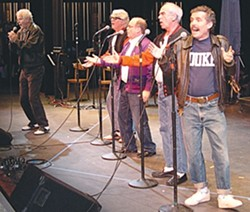 DOO WOP! :  The kool kat kings of harmony vocals, aka The Bald Spots, play June 21 at Arroyo Grande's Rotary Bandstand. - PHOTO COURTESY OF THE BALD SPOTS
