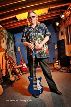 HE'S SEEN IT ALL :  Surf guitar and psychedelic rock legend Merrell Fankhauser will gather up a group of iconic '60s and '70s rock stars—including Spirit's Ed Cassidy—to play June 4 at the SLO Grange Hall. - PHOTO BY LUIS ESCOBAR