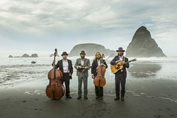 CELLO OUT:  Cello-driven bluegrass act the Sweetwater String Band, plays Oct. 1 at Frog and Peach. - PHOTO COURTESY OF THE SWEETWATER STRING BAND