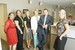 THE CENCAL CREW :  The staff of CenCal Health includes Mary Rose Niemi, Administrative Assistant; Angie Ireson, Registered Nurse; Kristin Morley, Manager of Community Relations and Marketing; Sherry Kennedy, Registered Nurse; Bob Freenan, Deputy CEO; and Theresa Merkle, Pro - PHOTO BY STEVE E. MILLER