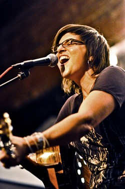 SING IT, SISTER! :  On Oct. 5 at the Steynberg Gallery and on Oct. 7 at The Porch, check out Laura Tsaggaris during Steve Key's Songwriters at Play showcases. - PHOTO COURTESY OF LAURA TSAGGARIS