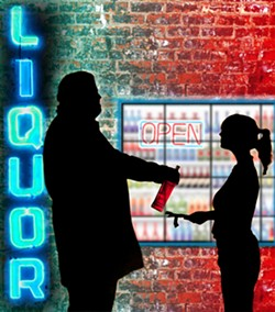'SPORT ME A SIX-PACK?' :  California police departments put a priority on curbing alcohol-related incidents involving minors, so they compete for grants that pay for special alcohol enforcement operations in their town without dipping into city coffers. - PHOTO BY STEVE E. MILLER