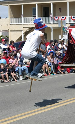 SPPP-BOING! :  A kid on a pogo stick wowed the crowd with his antics. - PHOTO BY GLEN STARKEY