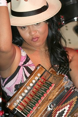 BOSS OF THE HOT SAUCE :  Rosie Ledet & the Zydeco Playboys will bring their swamp boogie to the SLO Vets Hall on Feb. 20. - PHOTO COURTESY OF ROSIE LEDET