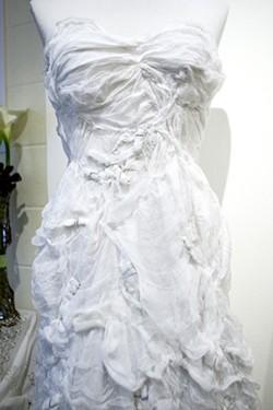 Melinda Forbes creates dresses from gauze. - PHOTO BY STEVE E. MILLER