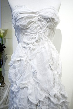 Melinda Forbes creates dresses from gauze. - PHOTO BY STEVE E. MILLER