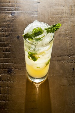 YOU'RE MORE THAN WELCOME:  The Welcome Cocktail, a creation of Eric Hunter at the Granada Bistro, is essentially a vodka drink, but with touches of mint and grape. - PHOTO BY STEVE E. MILLER