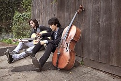 CELLO ROCK? :  Yes, cello rock awaits when Oak and Gorski headline the Songwriters at Play showcase on July 3 at Sculpterra. - PHOTO BY MELISSA CASTRO