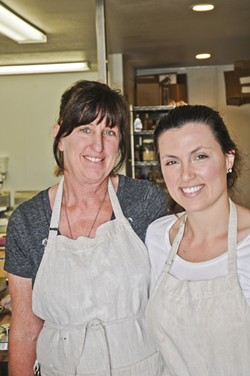 THE TREATS ARE SWEET:  A mother and daughter team, Carol and Kelli Smithback at Sweet Pea Bakery in Arroyo Grande have garnered quite a following for their sweet treats. - PHOTO BY DAN HARDESTY