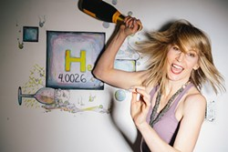 """IT'S SCIENCE, BITCHES!:  Cal Poly engineering grad and musician Christine McKinley makes physics sexy and fun in her new book """"Physics for Rock Stars,"""" which she'll read from as well as play music on July 24 at Linnaea's Café. - PHOTO COURTESY OF CHRISTINE MCKINLEY"""