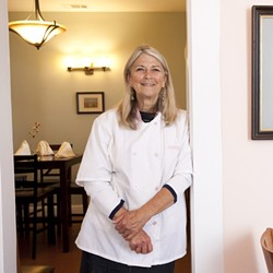 HOLD THE LOBSTER :  Rose Larson serves up lip-smacking comfort food. - PHOTO BY STEVE E. MILLER