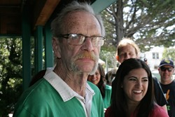 "WORLD'S OLDEST BOUNCER :  Jerry ""Surlycakes"" Bender keeps the crowd in line at McCarthy's Irish Pub."