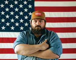 AMERICAN MAN:  According to his website, graphic designer Aaron Draplin offers the following services: graphic design (duh), advice, bounty hunting, wrastlin', jokes/laughter, and a firm handshake. - PHOTO COURTESY OF AARON DRAPLIN