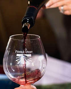 POURING SUNSHINE :  Sundry sumptuous Pinot Noir were poured at the annual Fiddlefest celebration at Fiddlehead Cellars in Lompoc - PHOTO COURTESY OF FIDDLEFEST 08