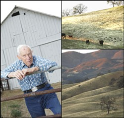 ROOTED IN RANCHING :  At 92, family patriarch Jim Sinton continues to take an active interest in the past, present, and future management of the vast Avenales Ranch in eastern SLO County. - PHOTOS BY STEVE. E. MILLER