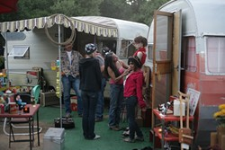 VINTAGE TRAILER CAMP!:   This Live Oak camp created a vintage '50s trailer theme.