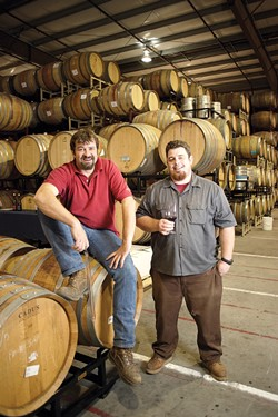 TWO OF A KIND:  And what a pair: Russell From (left) and McPrice Meyers are responsible for some of the best Central Coast wines.