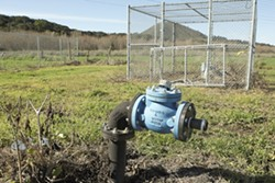 PLUGGED :  Facing a contaminated water supply, limited infrastructure, and a bleeding budget, Morro Bay water officials want to shut down the Ashurst well field, including Well 10A (pictured) and all water services to 11 surrounding homes. - PHOTO BY STEVE E. MILLER