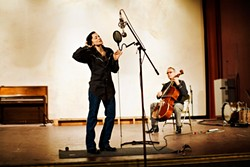 CONJURING GHOSTS :  Local folk duo Bob & Wendy continue to promote their excellent new album Ghost of Guadalupe with a show at Coalesce Book Store on April 26. - PHOTO BY BARRY GOYETTE