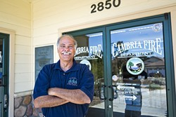 GONE BUT NOT FORGOTTEN:  Cambria Fire Department Chief Mark Miller retired in July. Cal Fire has since taken over management of the department. - PHOTO BY KAORI FUNAHASHI
