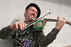 TUNA FIDDLE! :  The amazing multi-instrumentalist, raconteur, and musical archeologist Joe Craven presents his one-man show on Oct. 9 at the SLO Botanical Gardens. - PHOTO COURTESY OF JOE CRAVEN
