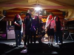 VERISIMILI-DUDES! :  High Voltage—A Tribute to AC/DC (Ray Rocha, Alex Lacerda, Kelly Atwell, Paul Dunn, Josh Blodgett, and Andy Shellcross) plays July 20 at SLO, and two lucky readers will get in for free if they e-mail Glen Starkey at gstarkey@newtimesslo.com. - PHOTO COURTESY OF HIGH VOLTAGE