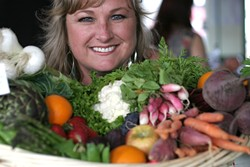 RACHAEL'S BOUNTY :  SLO Veg proprietor Rachael Hill will deliver baskets of locally grown produce right to your door. Call 709-2780. - PHOTO BY GLEN STARKEY