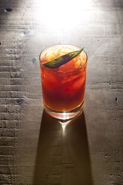 CARROT AND LIME?:  Believe it or not, it works! Mix in sage, allspice syrup, and Death's Door gin, and you've got The Drunken Gardener, one of Granada Bistro's most popular original creations. - PHOTO BY STEVE E. MILLER