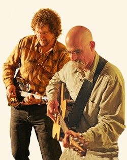 VIRTUOSO TIMES TWO :  Stellar mandolin player Kenny Blackwell and awesome guitarist Dorian Michael play an intimate show in Matt's Music on May 7. - PHOTO COURTESY OF KENNY BLACKWELL AND DORIAN MICHAEL