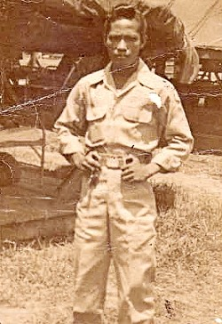 VIEW OF THE PAST :  Ben Reyes joined the guerilla army in the Philippines, in 1944. He served as a medic until 1949. - PHOTO BY STEVE E. MILLER