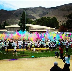 ALL THE COLORS OF THE WIND:  The Color Blast Fun Run began in honor of local high school student Alex Maier. - PHOTO COURTESY OF SLO COLOR BLAST FUN RUN