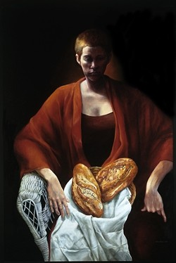 GIRL WITH BREAD: - ARTWORK BY KATHRYN JACOBI